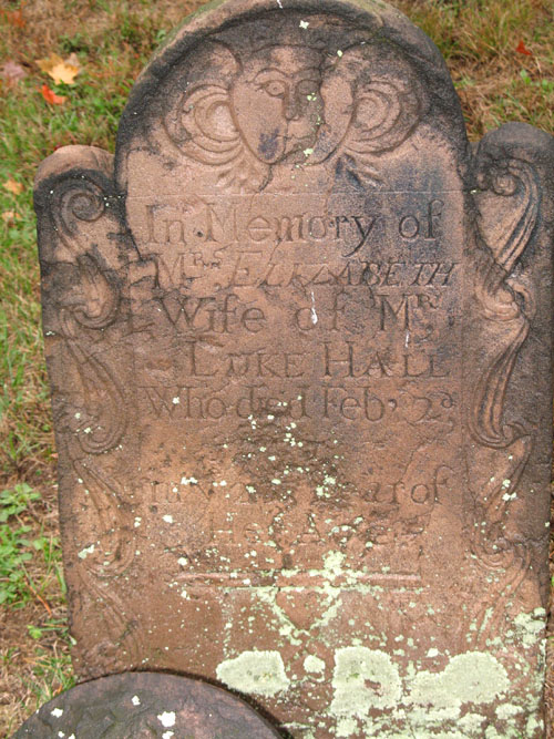 Elizabeth Hall gravestone