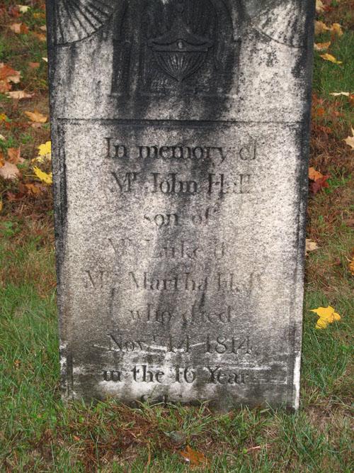 Gravestone of John Hall