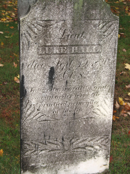 Lt. Luke Hall gravestone