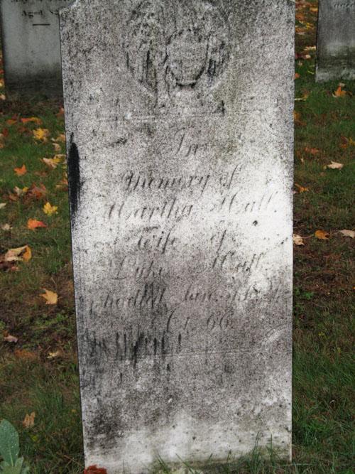 Martha (Davis) Hall gravestone