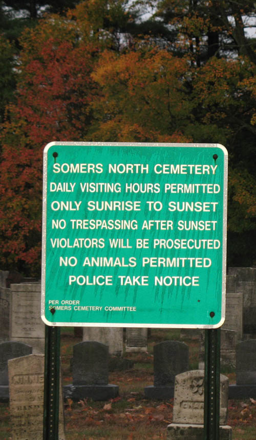 N.Cemetery sign